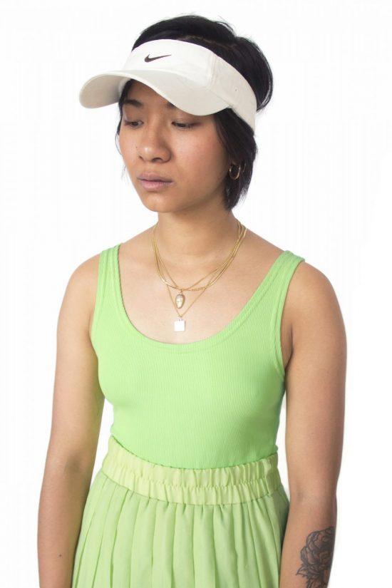 Vintage Y2K Nike White Visor Hat