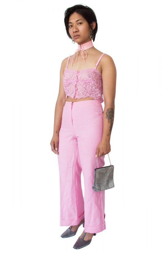 Vintage 90's Pink Wide Leg Pants - S