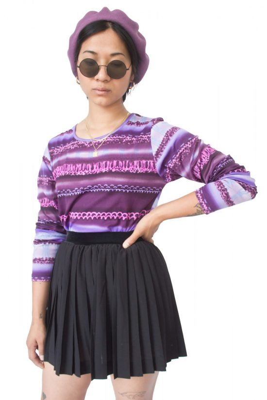 Vintage 90's Abstract Purple Top - M