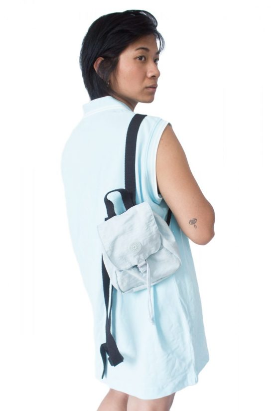 Vintage 90's Light Blue Mini Backpack