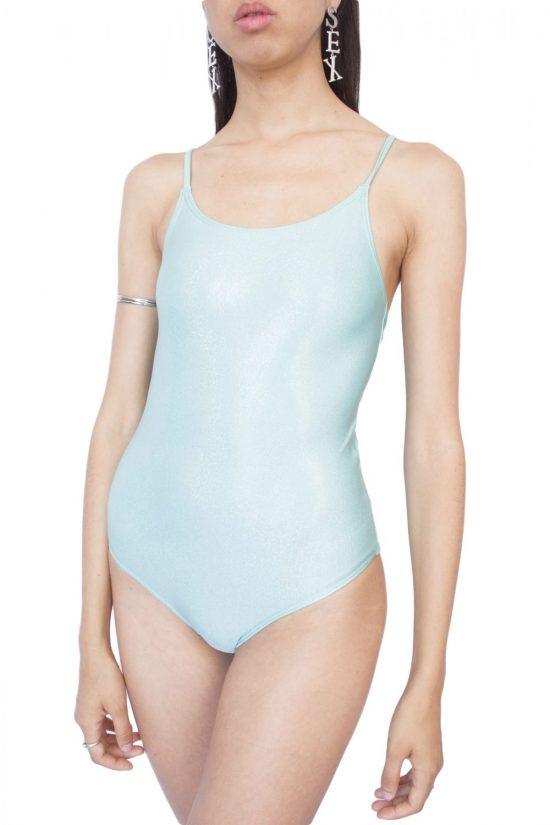 Vintage Y2K Glitter Hologram Swimsuit - XS