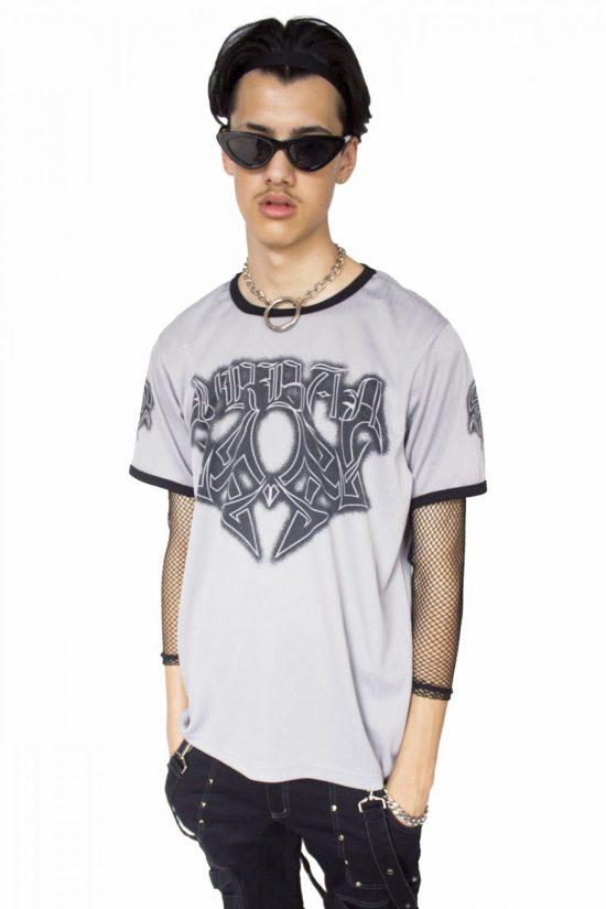 Vintage 90's Gray Tribal T-shirt - L