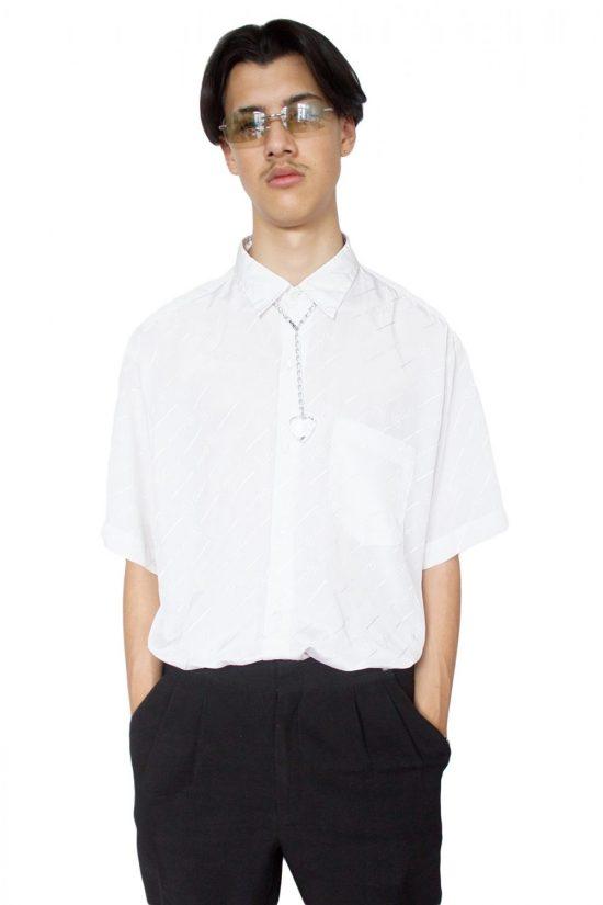 Vintage 90's Faux Cartier White Shirt - XL