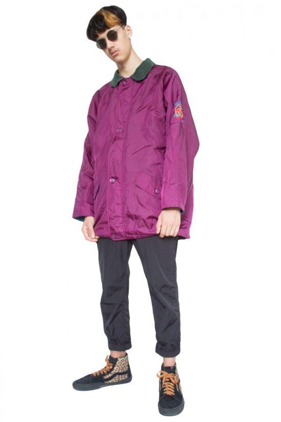 Vintage 90's Purple Aviator Jacket - XXL