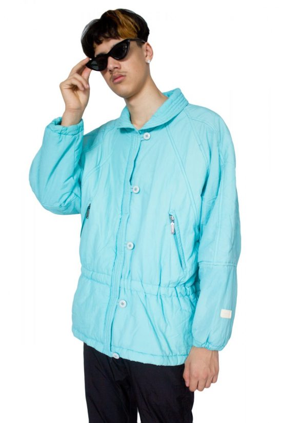 Vintage 90's Pastel Blue Jacket - XL