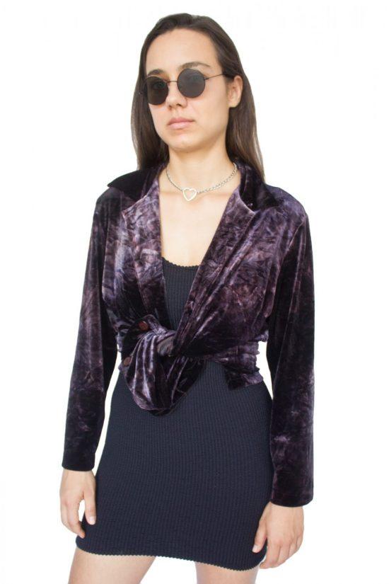 Vintage 90's Dark Velvet Shirt - L