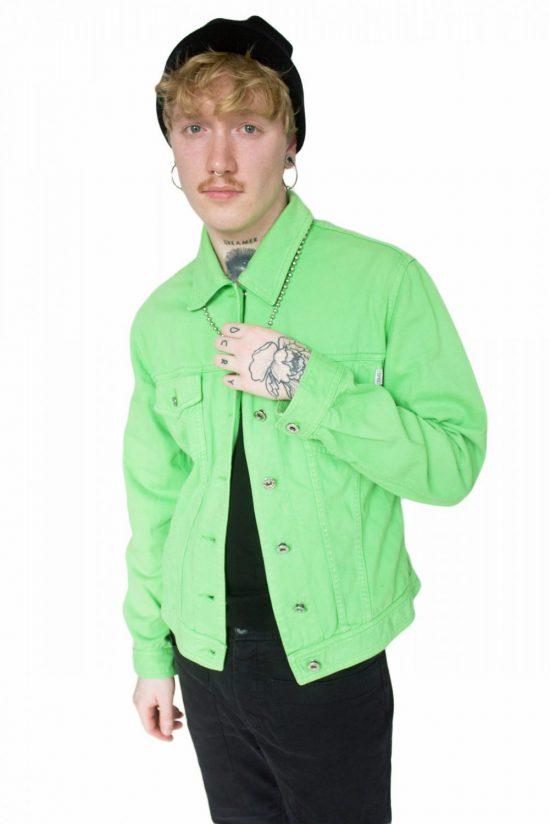Vintage 90's Green Denim Jacket - M/L
