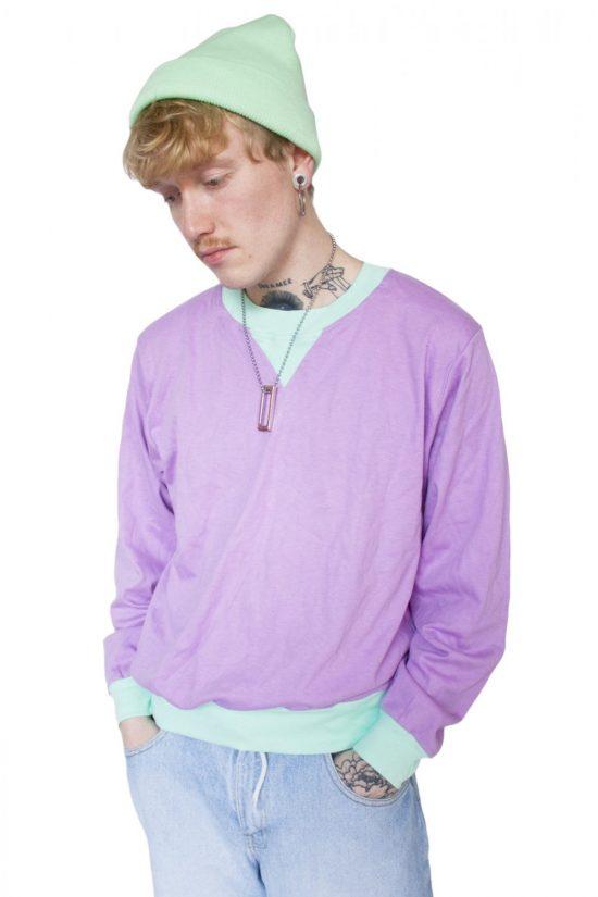 Vintage 90's Pastel Sweatshirt - L