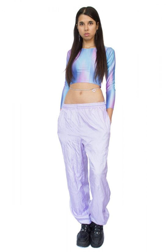 Vintage 90's Pastel Purple Track Pants - M