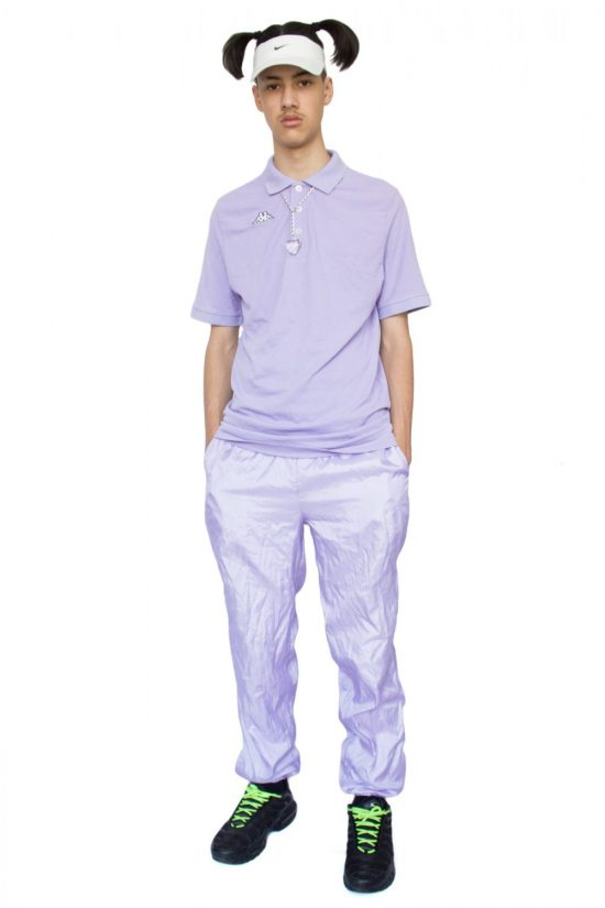 Vintage 90's Pastel Purple Kappa Polo T-shirt - L