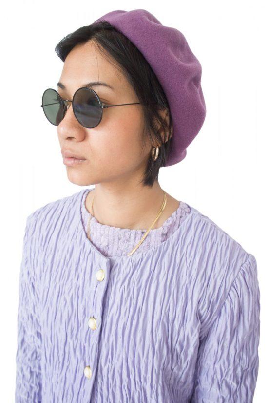 Vintage 90's Purple Beret Hat