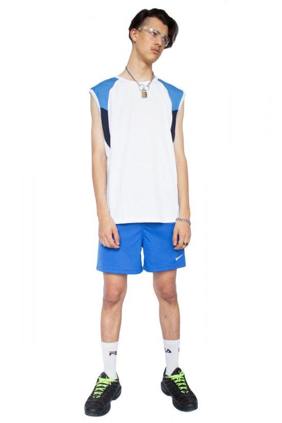 Vintage Y2K Blue Nike Shorts - S