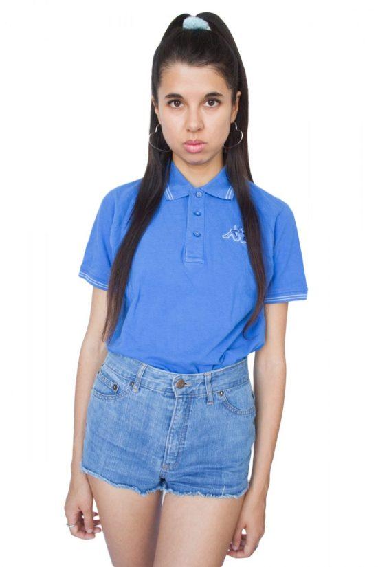 Vintage 90's Blue Kappa Polo T-shirt - M
