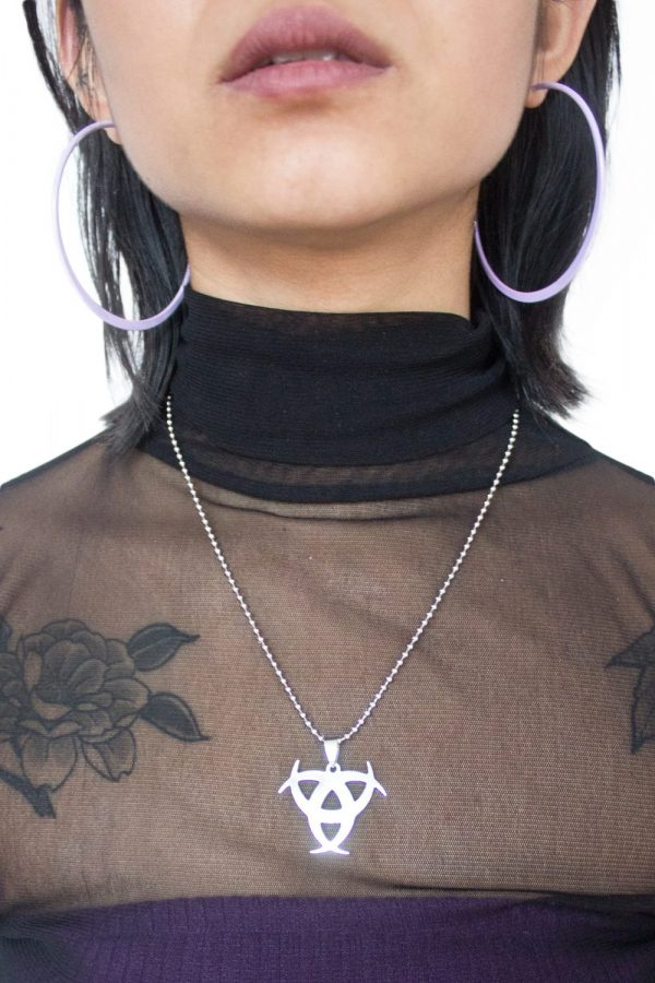 Cyber Biohazard Ball Chain Necklace ball chain necklace