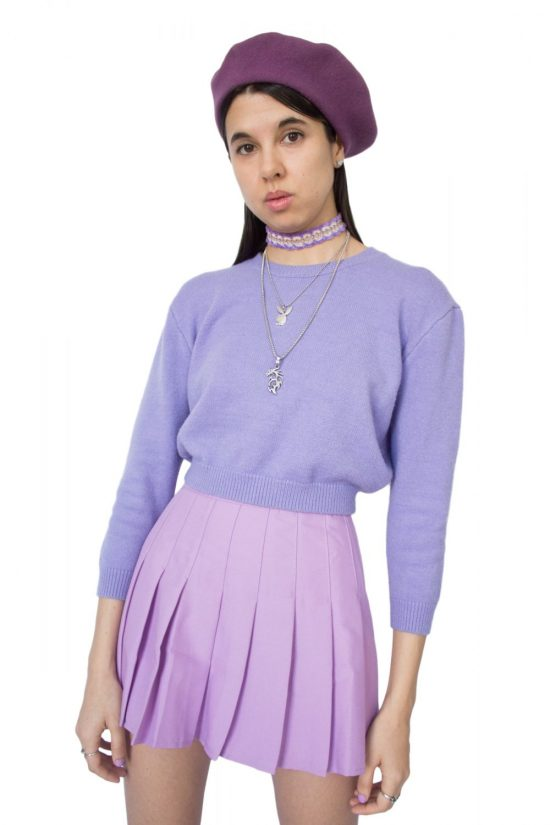 ae43740c115 Vintage 90 s Pastel Purple Knitted Jumper – XS