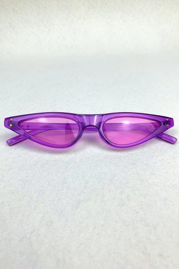Cyber Purple Triangle Sunglasses Size L