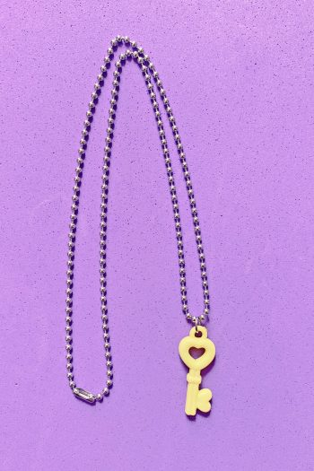 Jewelry Yellow Heart Key Ball Chain Necklace aesthetic necklace