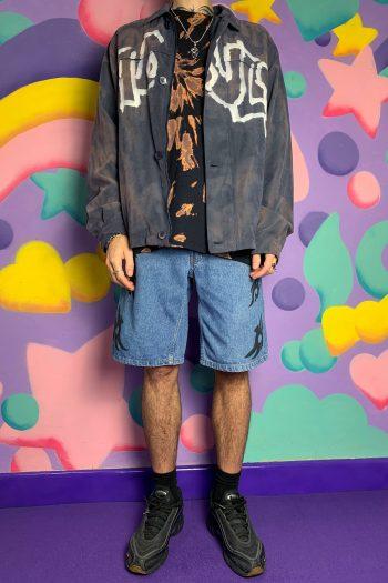 Goth ♡ Grunge Dripping Adult World Jacket – XL 90s jacket