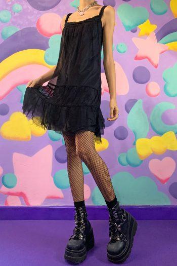 Dresses Vintage Y2K Black Sheer Dress – S 90s dress