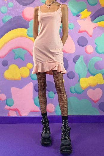 Dresses Vintage Y2K Pink Ruffle Mini Dress – S cami dress