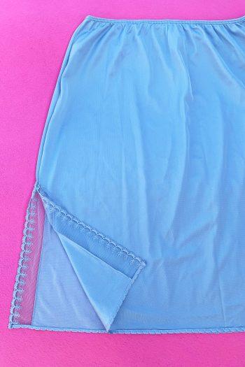 Lingerie & Nightwear Vintage 90's Blue Lingerie Slip Skirt – L 90s skirt