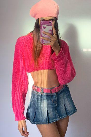 Belts Vintage Y2K Pink Studded Belt pink belt