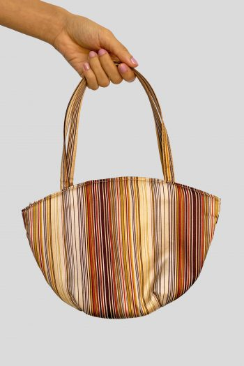 Bags Vintage Y2K Striped Top Handle Bag Size L