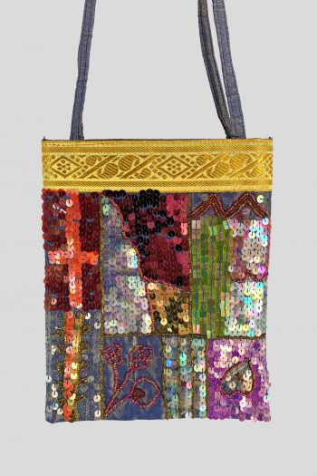 Bags Vintage Y2K Beaded Sequin Shoulder Bag beaded bag