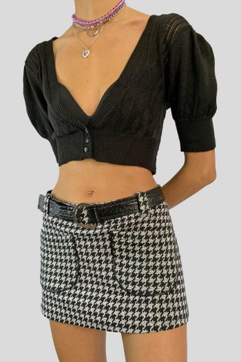 Bustiers & Crops Vintage Y2K Puff Sleeve Crop Cardigan – S cardigans