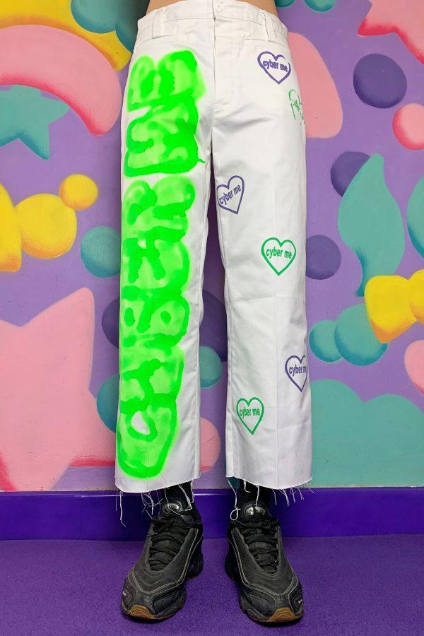 Cyber Cyber Me Neon Pants – S 80s pants