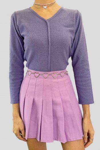 Grunge Vintage 90's Purple V Neck Sweater – S 90s sweater
