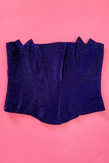 Bustiers & Crops Vintage 90's Dark Purple Bustier Top – L 90s bustier