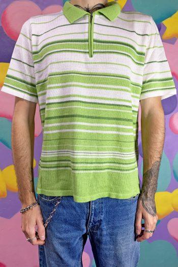 Men Vintage Y2K Half Zip Knit Top – L/XL 90s top