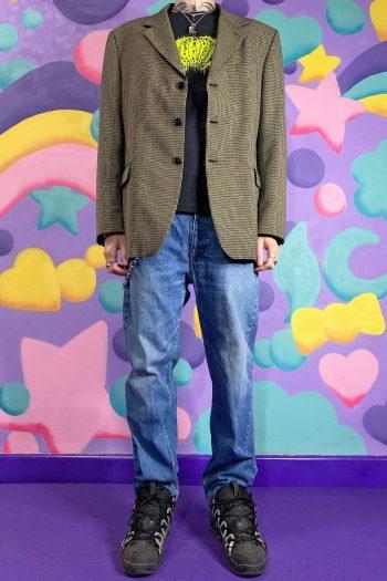 Jackets Vintage 90's Checkered Blazer Jacket – XL 90s jacket