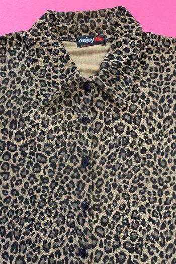 Cyber Vintage 90's Leopard Blouse – XL 90s blouse