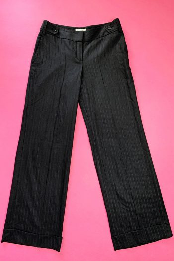 Pants Vintage Y2K Black Pinstripe Pants – S/M Size M
