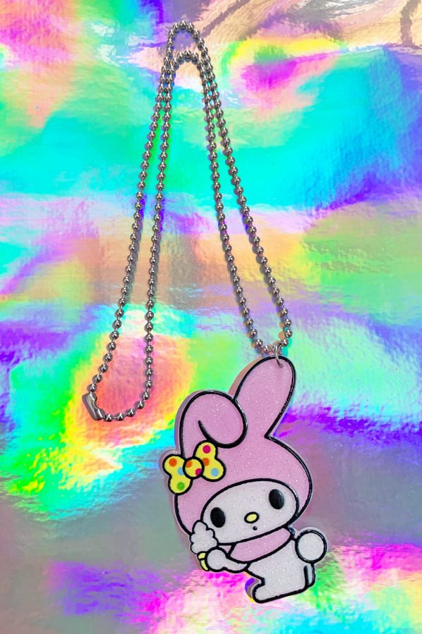 Jewelry Pink My Melody Ball Chain Necklace necklace