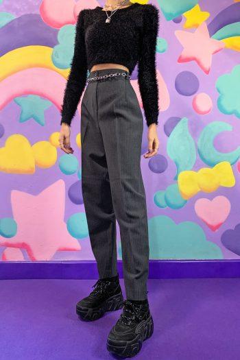 Boho Vintage 90's Pinstripe Carrot Pants – S 90s pants