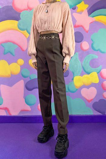 Boho Vintage 90's Brown Carrot Pants – S 90s pants