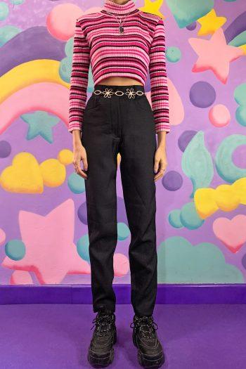 Boho Vintage 90's Black Mom Pants – XS 90s pants