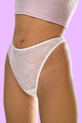 Lingerie & Nightwear Vintage 90's White High Cut Thong – XS high cut thong