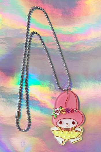 Jewelry My Melody Flowers Ball Chain Necklace necklace