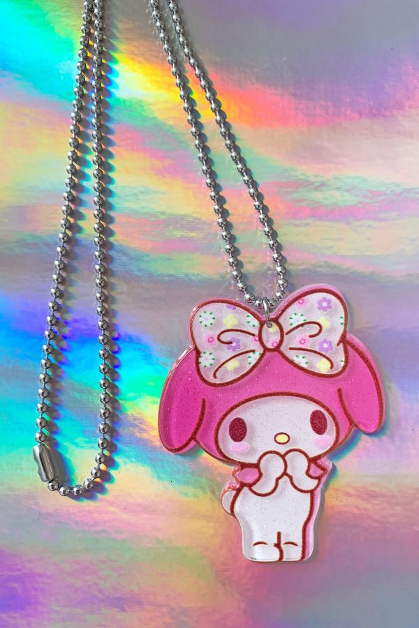 Jewelry My Melody Ribbon Ball Chain Necklace necklace