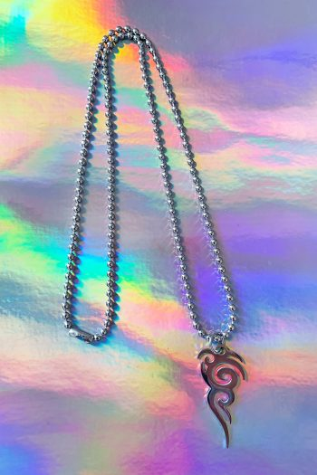 Cyber Tribal Tattoo Ball Chain Necklace 90s necklace