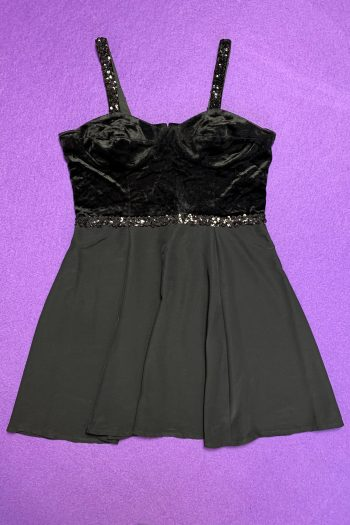 Dresses Vintage 90's Black Sequin Mini Dress – M 90s dress
