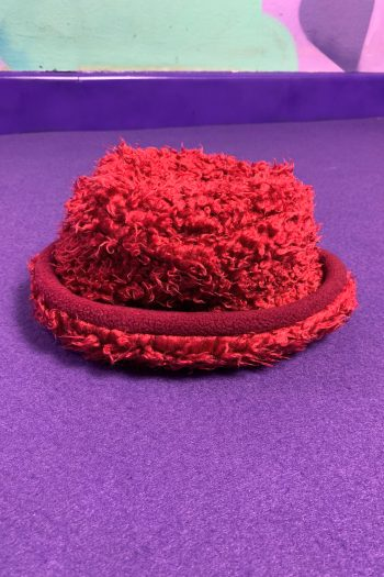 Cyber Vintage Y2K Red Fuzzy Hat 90s hat