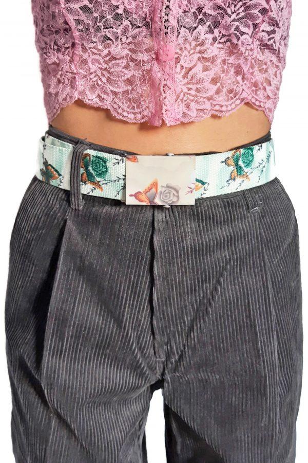 Belts Vintage Y2K Green Butterfly Slide Belt buckle belt