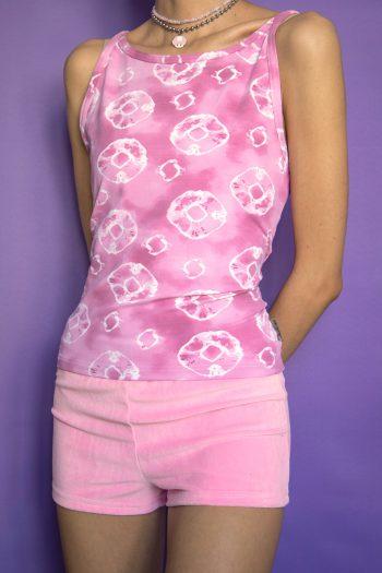 Cyber Vintage 90's Pink Tie Dye Tank Top – M/L 90s top