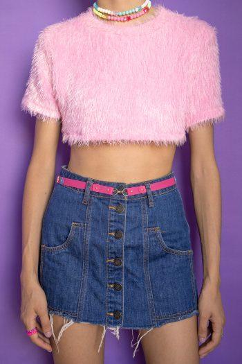Boho Vintage Y2K Raw Hem Mini Skirt – XXS buttoned skirt