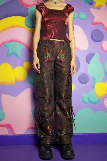 Boho Vintage Y2K Roberto Cavalli Cargo Pants – S/M 90s pants